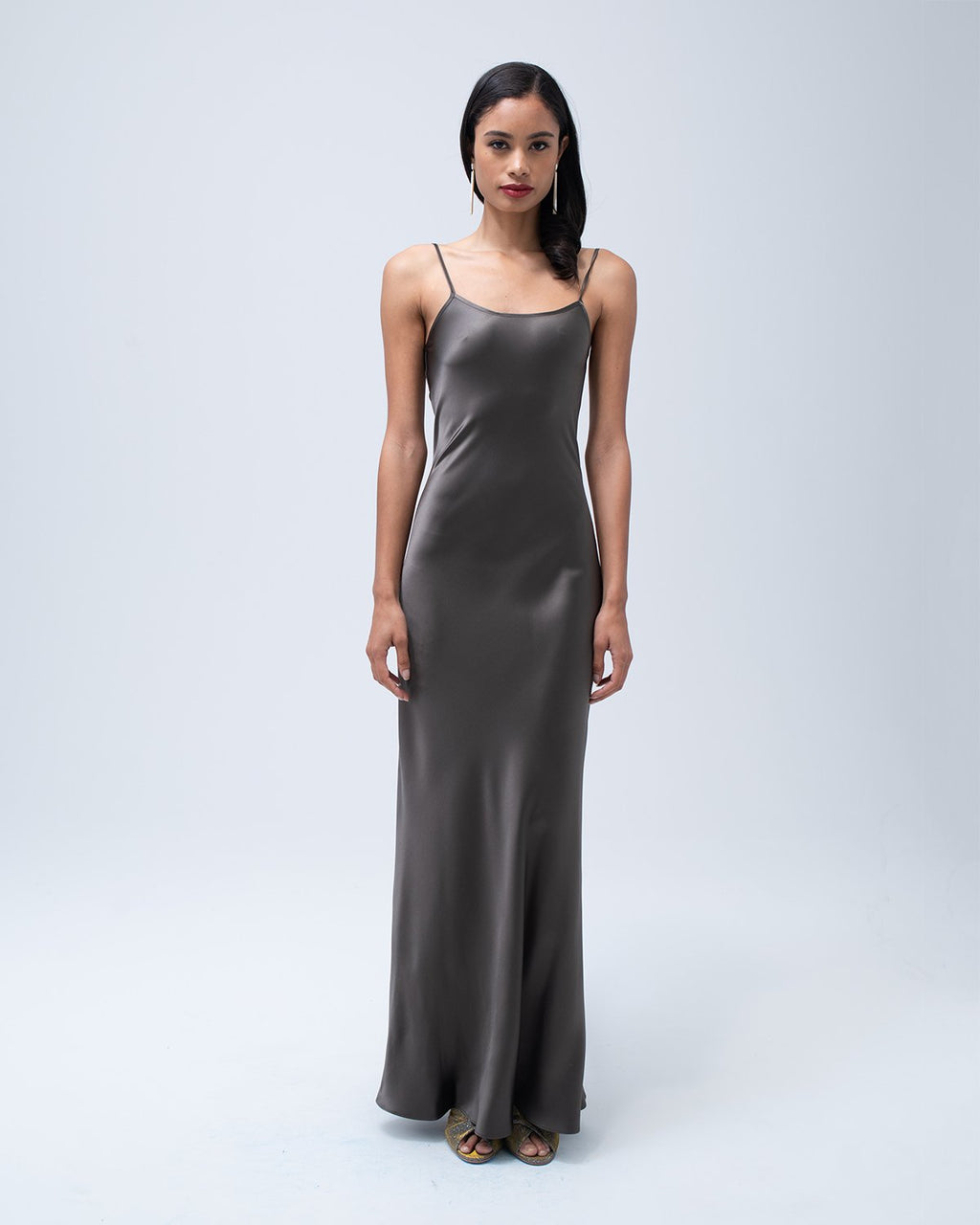 Liquid Slip Dress - Mink