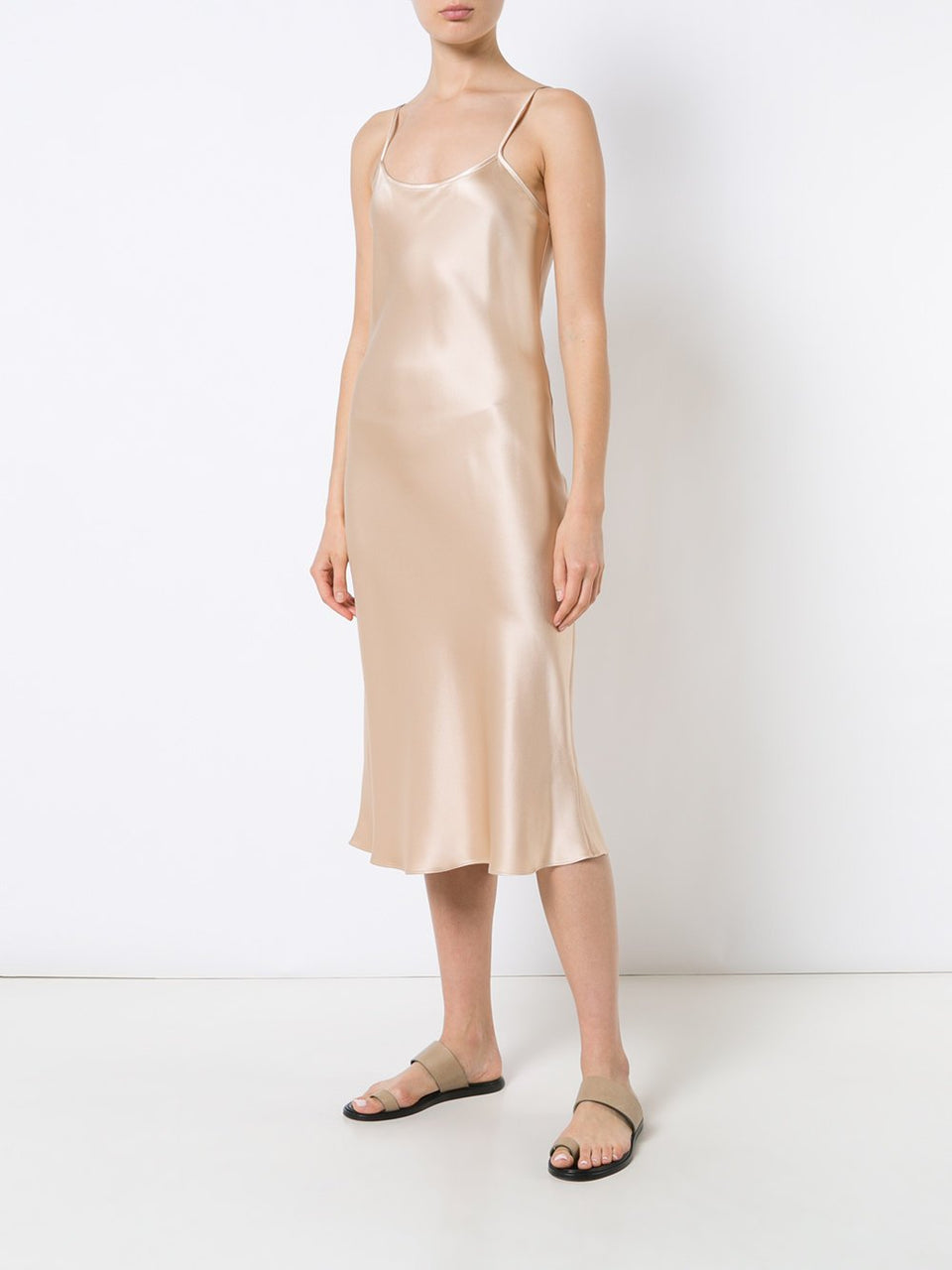 Midi Slip Dress - Blush