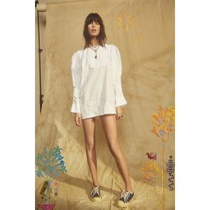 Miski Short Dress White