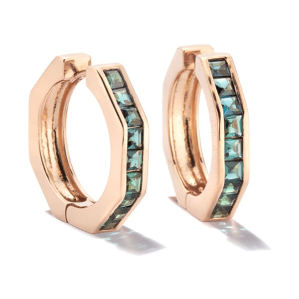 Otto Earrings L with Indicolite Tourmaline Princess Cut