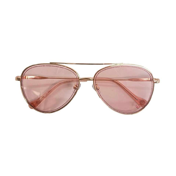 Glitter Aviator Sunglasses Rose Gold