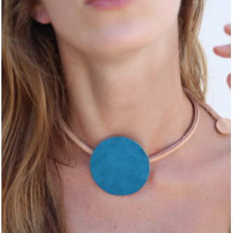 Circle Blue Necklace