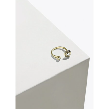 Gravitation Ring Gold/White Diamond