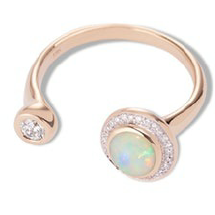 Gravitation Ring Gold/Opal/White Diamond