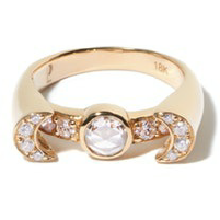 Luna Ring Yllw Gold Diamonds