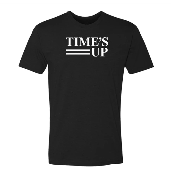 Time's Up Logo Tee - Black