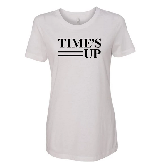 Time's Up Logo Tee - Fitted White