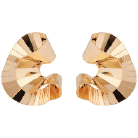 Yellow Gold Plated Ribbon Earrings