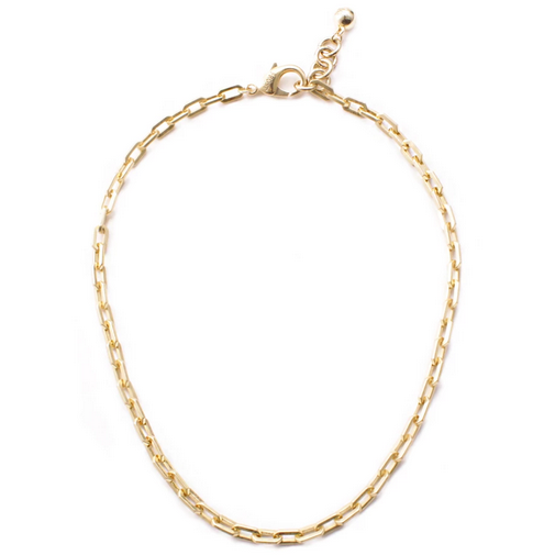 PLAZA EDGE CHAIN NECKLACE BRASS 17.5'' +1'' EXT
