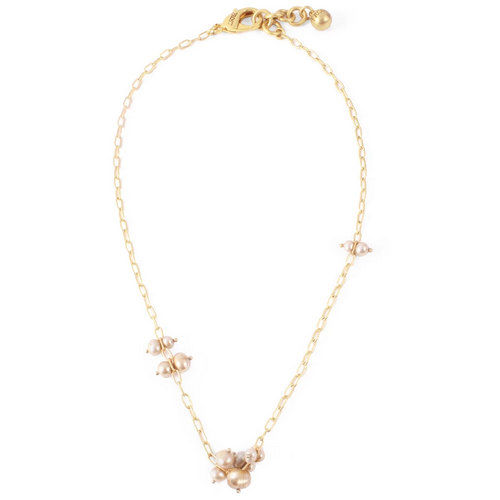 PLAZA PEARL CLUSTER NECKLACE  18'' +1'' EXT
