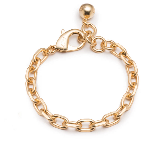 PLAZA TUFF LINK BRACELET GOLD PLATED BRASS; 6.5''L+1''EXT