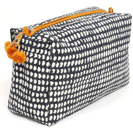 Toiletry bag - Navy Dot