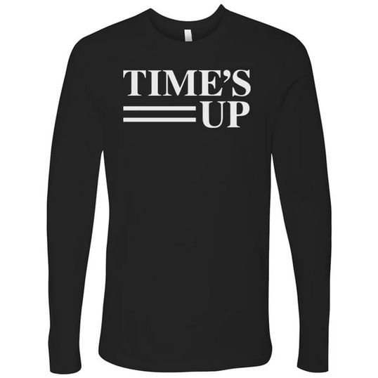 Time's Up Long Sleeve Logo tee Black