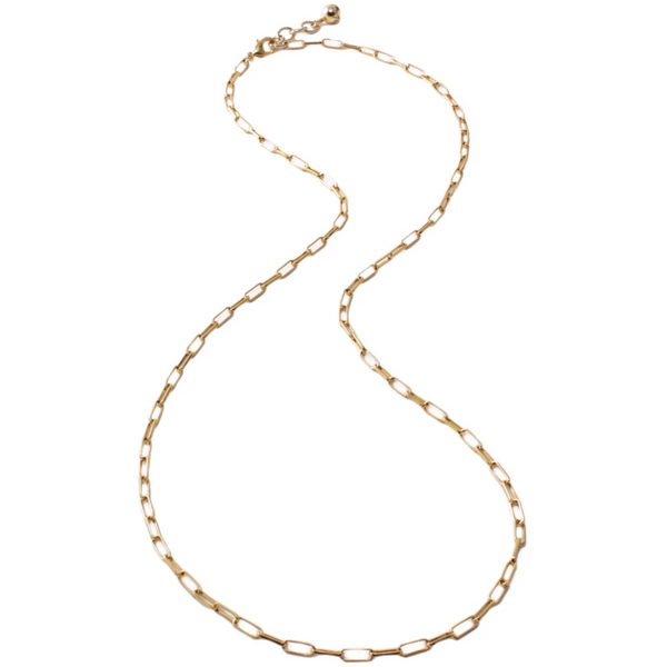 "Plaza Long Rectangle Link Necklace 32"" + 1"" Extender"