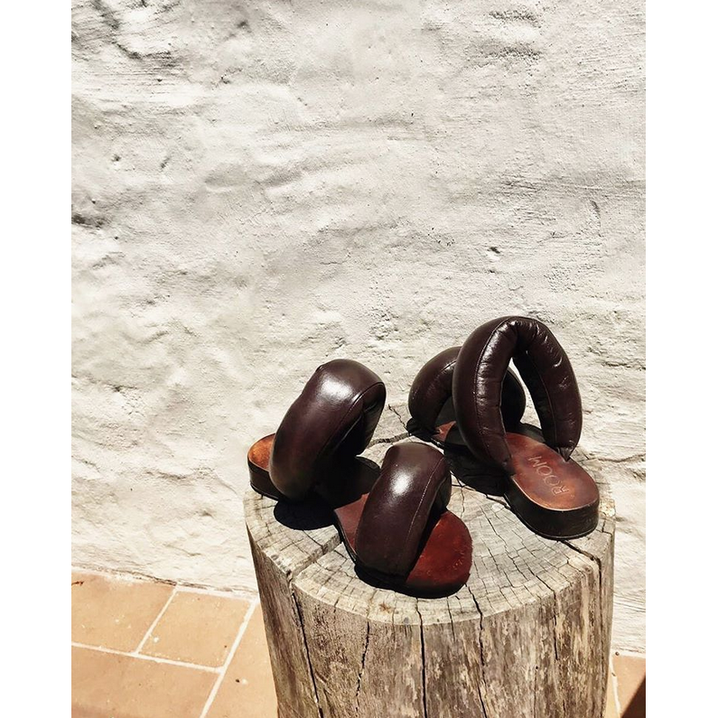 Coffee Brown Pillow Sandals