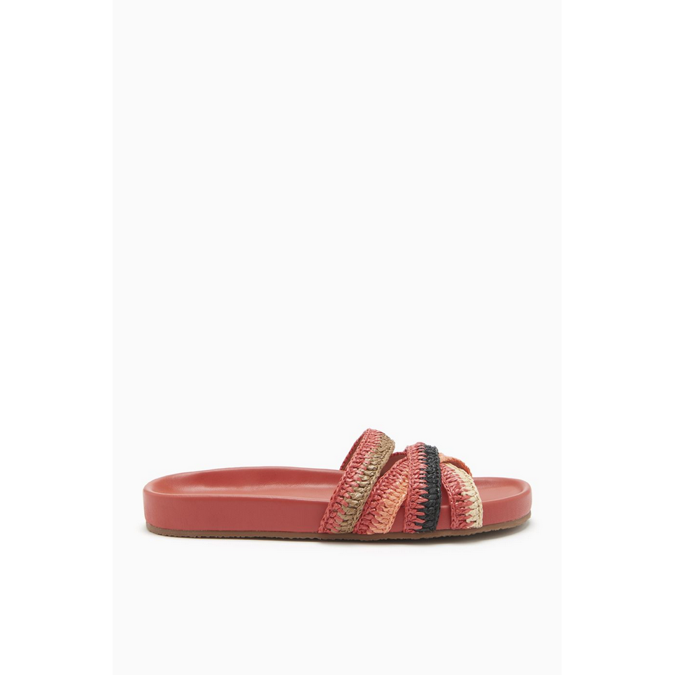 Makena Sandal in Poppy