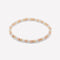 Sienna Silver, Yellow and Rose Gold Bracelet 4mm