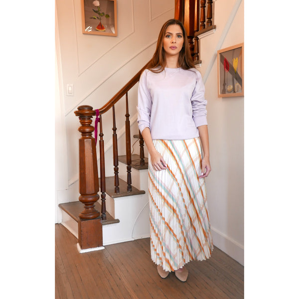 Midi Pleated Skirt