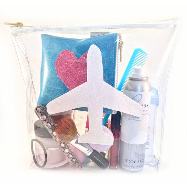 Airplane Travel Large Pouch