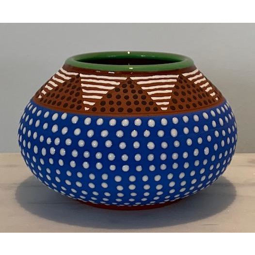 True Blue Urchin Mini Vase