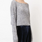 Twist Crop Sweater - Heathered Celeste