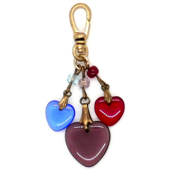 VC136 Vintage Charm - 3 hearts