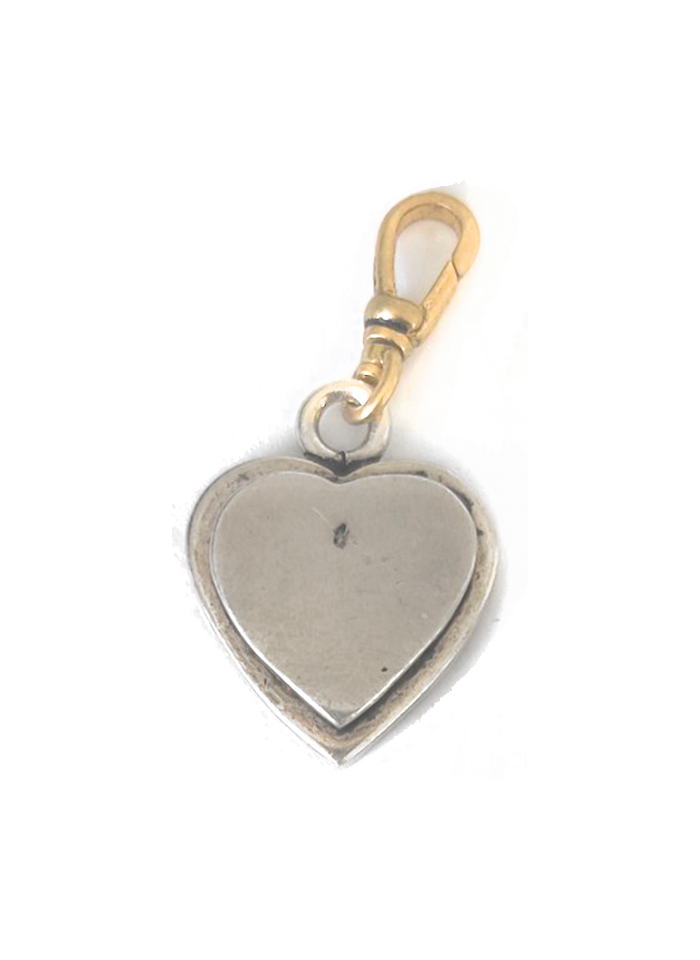Vintage Charm - Silver Heart