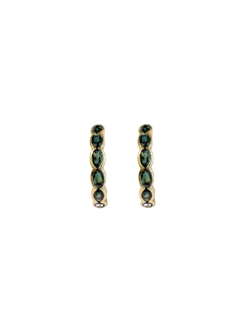 Infinite Green Wave Earrings