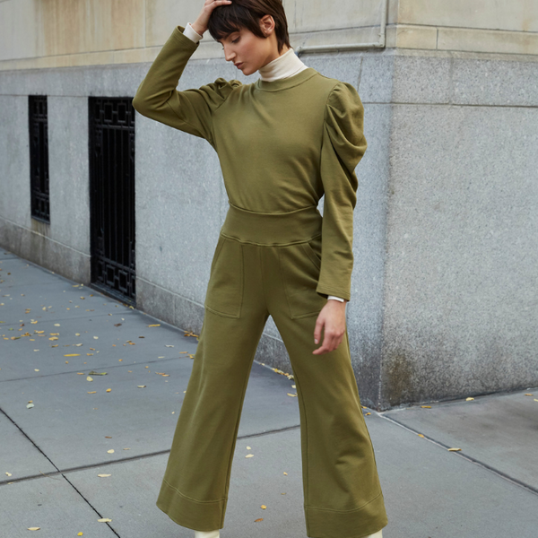 The Culotte Sweatpant In Olive