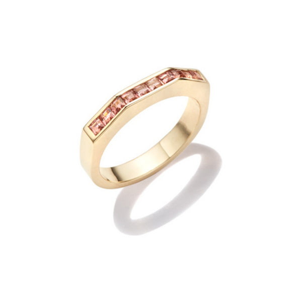Otto Ring Pink Tourmaline Baguette Cut