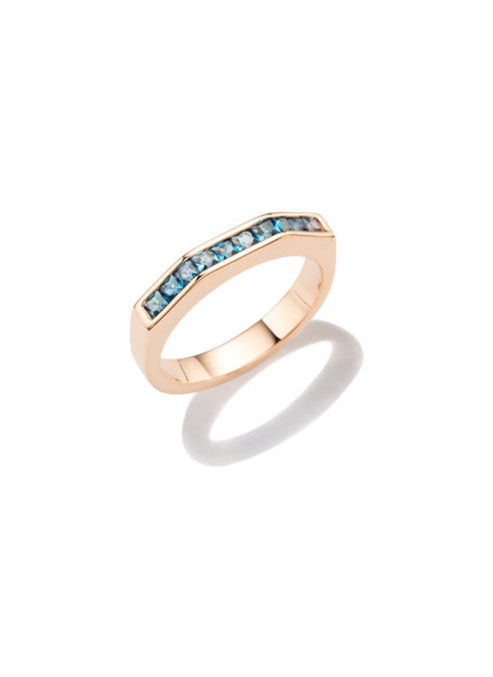 Otto Ring Set with London BlueTopaz