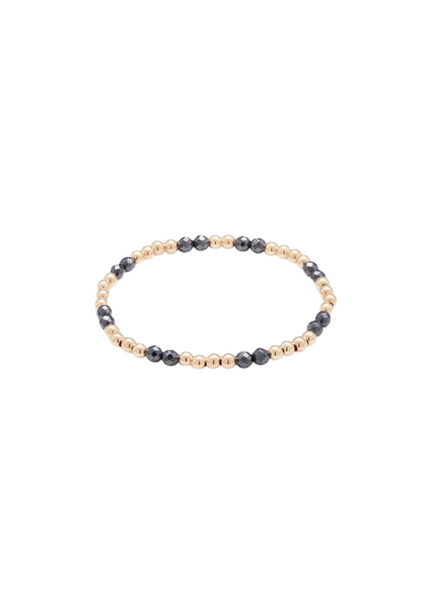 Bella Yellow Gold and Hematite Bracelet 4mm
