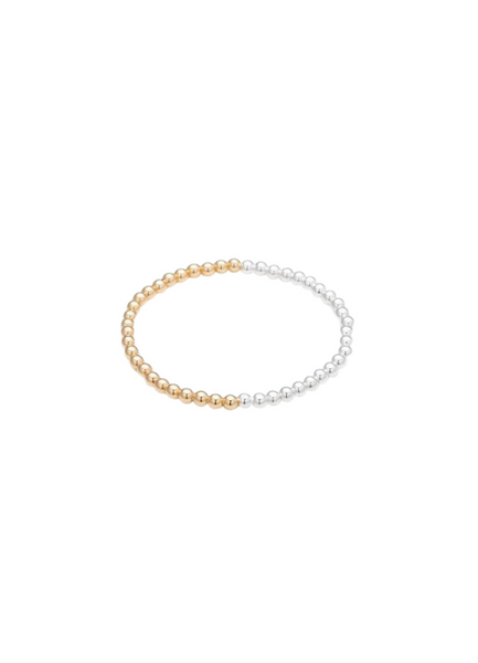 Jen Silver & Yellow Gold Bracelet 4mm