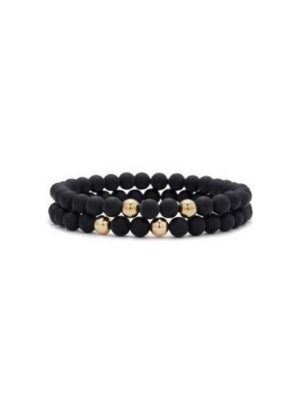 Rami Onyx with Yellow Gold Bracelet 6mm