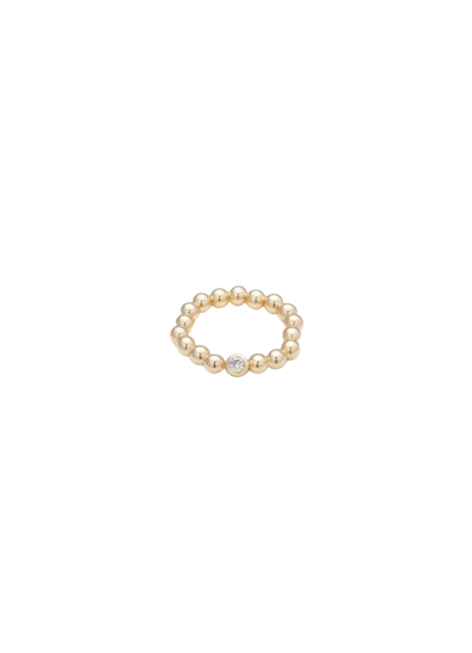 Jojo Yellow Gold Ring  with Cubic Zirconia 4mm