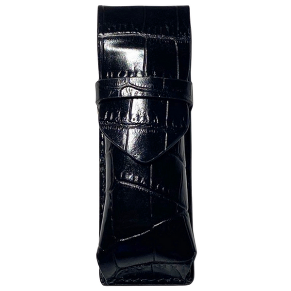 Changer Minuteria - Black Embossed Crocodile Leather