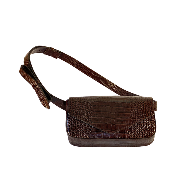 Giornal Medium Crossbody Bag - Brown