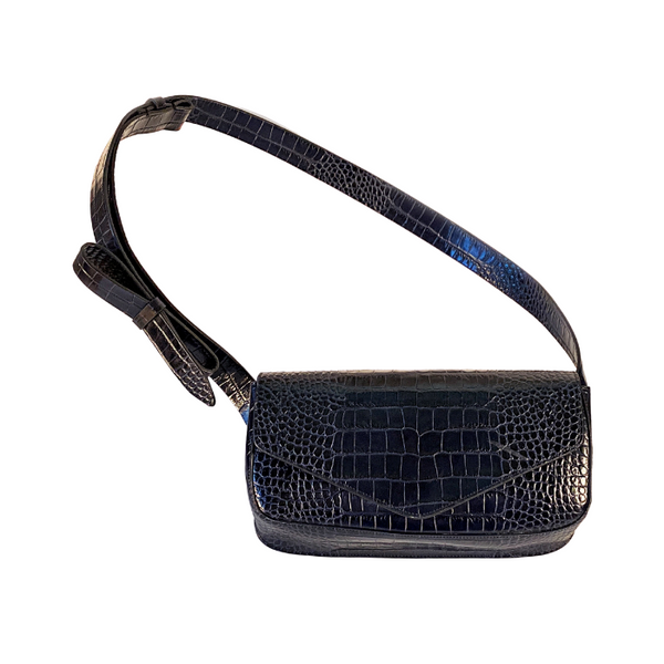 Giornal Medium Crossbody Bag - Navy