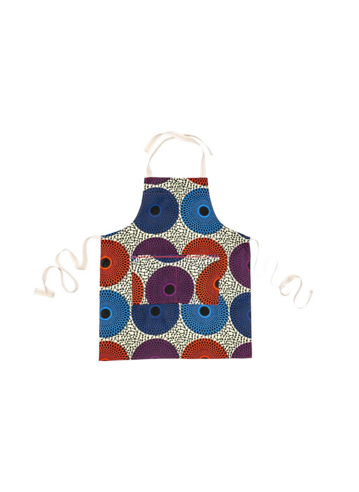 Johnny Apron in Teal & Orange Asterix