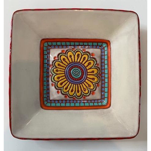 Yellow Daisy Square Platter