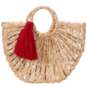 Maria Leque Red Tassel Bag
