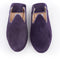 Pair of Babouche slipper purple cowhide leather