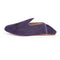Babouche slipper in purple cowhide leather.