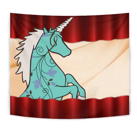 Unicorn Print Red Tapestry-Free Shipping