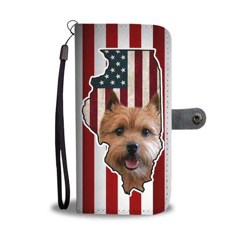 Norwich Terrier Print Wallet Case-Free Shipping-IL State