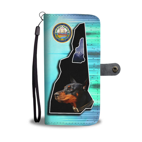 Doberman Pinscher Print Wallet Case-Free Shipping-NH State
