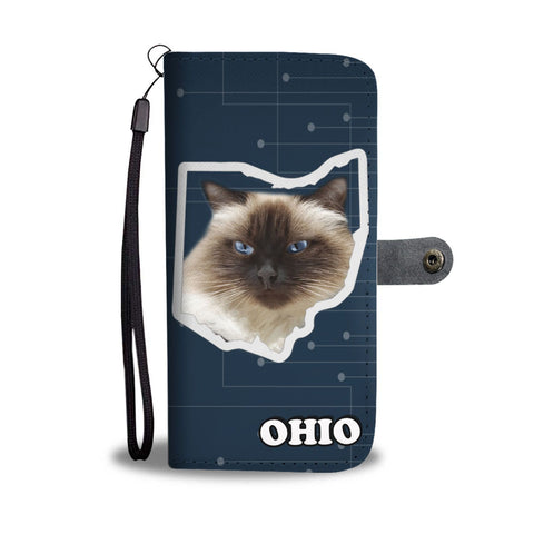 Himalayan Cat Print Wallet Case-Free Shipping-OH State