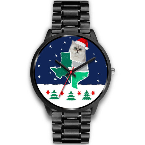 Exotic Shorthair Cat Texas Christmas Special Wrist Watch-Free Shipping