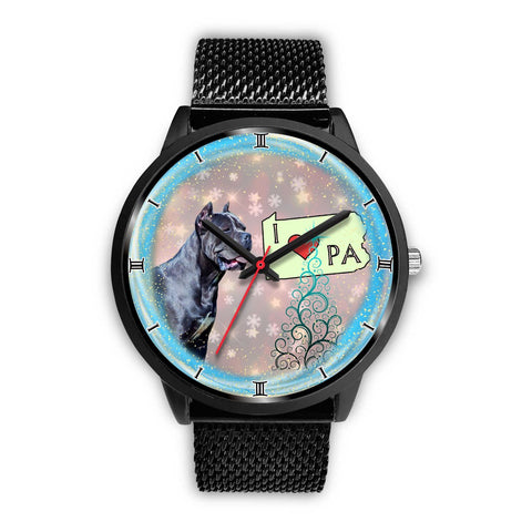 Cane Corso Dog Pennsylvania Christmas Special Wrist Watch-Free Shipping