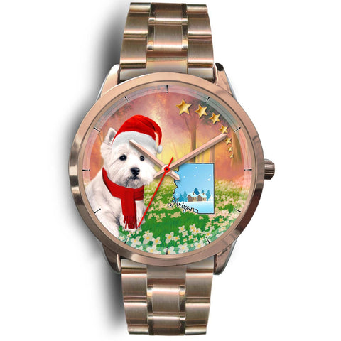 Cute Westie Arizona Christmas Special Wrist Watch-Free Shipping